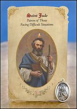 St Jude Healing Holy Card with Medal for Difficult Situations  NEW SKU MC023