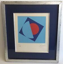 SÉRIGRAPHIE Originale LUCIENNE OLIVIERI (1910-2007) Composition Géométrique