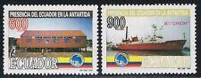 Ecuador 1305/06 1994 das Vorhandensein der Antarktis Fauna Pinguin Boot Ship MNH