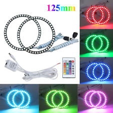 125mm RGB Color LED Angel Eyes Halo Rings Remote Control Led Headlight Source 2x