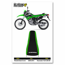 2008-2014 KAWASAKI KLX 250 SF Green/Black PLEATED SEAT COVER BY Enjoy MFG