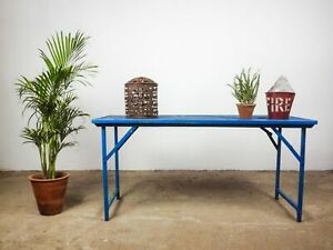 Vintage Wood and Metal Folding Garden Table (QTY. AVAILABLE) MILL-746