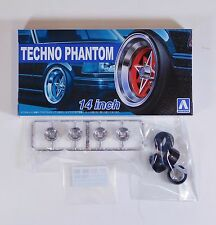 "Aoshima 1/24 Techno Phantom 14"" Wheel & Tire Set For Plastic Models 5324 (31)"