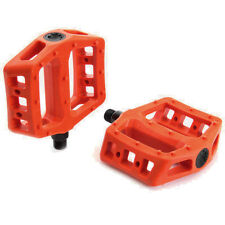 Cult PC BMX Platform Pedals Orange Plastic 9/16