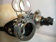 Pro Steampunk ® Safety Goggles Nickel Steel Clockwork Metal Top Hat Lab Gear LED