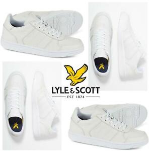 Men's Lyle & Scott McAvennie Classic Sports Trainers Sneakers Shoes White