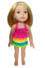 "14.5"" Doll Rainbow Swimsuit fits 14.5"" Dolls Rainbow Colors Swimsuit"