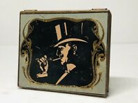 Dodo Designs 1980 Tin Box Top Hat Lighting Cigarette 2 1/2 x 3 inches Free Ship!