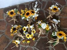 Wedding flowers bridal bouquet sunflowers bridal decorations free shipping