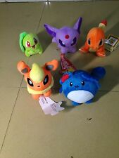 Lot of 5 Pokemon Plush Doll Stuffed Charmander Chikorita Espeon Flareon Marill