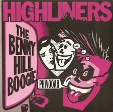 THE HIGHLINERS BENNY HILL & SURFER JONES BOOGIE 1989 PICTURE SLEEVE PSYCO PUNK