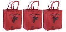 3 Atlanta Falcons Reusable Shopping Grocery Tote Gift Bags - Go Green NEW