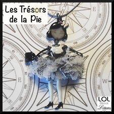 Collier LOL BIJOUX - PEPETTE Poupée mini Nadine & tule - Blanc & noir - LOLILOTA