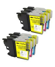 6 NON-OEM INK CARTRIDGE BROTHER LC-61 CMY DCP-395CN DCP-J125 MFC-290C MFC-490CW