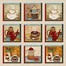 1 Fabric Panel - Coffee House Mini Cushion Fabric Panel - 9952p-40