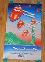 THE ROLLING STONES - ORIGINAL 1981 AMERICAN TOUR - ROCK CONCERT POSTER (1981)