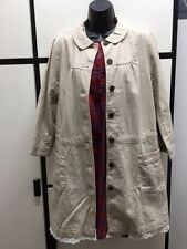 SM2 JAPAN SAMANTHA MOSHE LINEN COTTON NATURAL LONG JACKET DRESS COAT