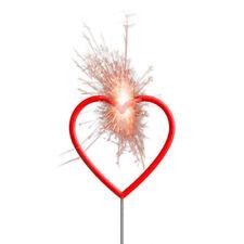 NEU Wunderkerze Herzform, rot, 30 cm Hochzeit Verlobung Valentinstag