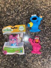 Playskool Sesame Street Friends Lot 3 Figures Telly/Cookie Monster/Abby Cadabby