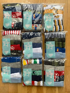 5 x Boys Mothercare Pants Briefs 100% Cotton Underwear Age 1 - 9 Years