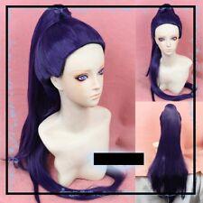 Overwatch/OW Widowmaker Amelie Lacroix Dark Purple Cosplay Wig Clip Ponytail