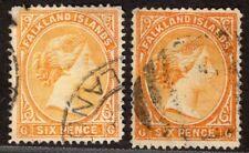 FALKLAND ISLANDS 1891/1902 STAMP Sc. # 16/16a USED