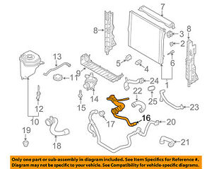 BMW OEM 08-18 X6 Radiator-Upper Hose 17127586774