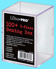 ULTRA PRO 100+ 2 PIECE GAMING BOX Holds Card In Deck Protectors Case Slide Clear