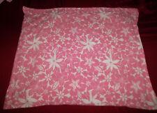 Pottery Barn Kids Standard Size Pillow Sham Pink White Floral