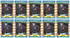 (10) 1987 Fleer Limited Edition Baseball #9 Roger Clemens Lot Boston Red Sox