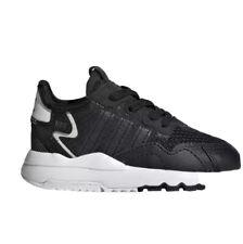 Adidas Nite Jogger el I tenis Niños Infantil EE6478 Negro Entrenadores Reino Unido 3