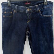 Torrid Womens Denim Jeans Size 12 Flare Leg Cotton Blend Dark Wash 5 Pocket