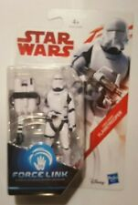 STAR WARS FIRST ORDER FLAMETROOPER NEW SCULPT LAST JEDI FIGURE FORCE LINK RARE