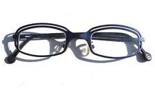 "Vintage 1998 L.A. Eyeworks Eyeglasses - Retro Blue Metal Nebula Glasses 5"""