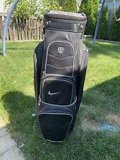 Nike Golf Cart Bag 14 Way Top W Rain Hood Read Description Black Used