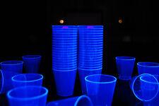 2oz 50 Count Neon Blue Blacklight Reactive Plastic Shot Glasses