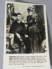 1950 RPPC Postcard/Reprint Handsome Bob Dalton w/ Sweetheart Eugenia Moore 1889