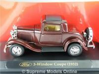FORD 3 WINDOW COUPE 1932 CAR 1/43RD SCALE BURGUNDY PACKAGED ISSUE BXD K8967Q~#~