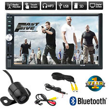 "7"" Double 2DIN Car MP5 MP3 Player Bluetooth Touch Screen Stereo Radio HD+Cam WA"