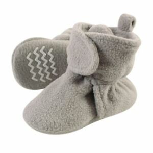 Hudson Baby Fleece Lined Booties, Neutral Gray
