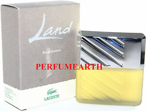 LAND BY LACOSTE AFTER SHAVE LOTION 3.3 / 3.4 OZ SPLASH POUR HOMME & NEW IN A BOX