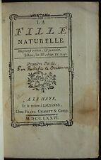 Edmé RESTIF de LA BRETONNE - La fille naturelle (1776 - Reliure signée)