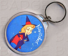 BEWITCHED - DOUBLE SIDED ROUND KEYRING - RETRO COOL!
