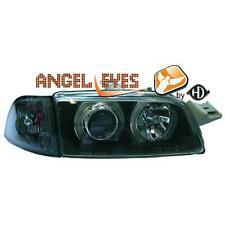 Par faros delanteros TUNING FIAT PUNTO 93-99 negros con anillos ojos de angel