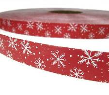 "10 Yards Christmas Winter Snowflakes Red Acetate Ribbon 1 1//4/""W"