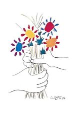 Petite Fleurs Poster! Colorful Flowers Focal Piece hands Love Pablo Picasso New
