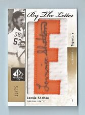 LONNIE SHELTON 2011/12 SP AUTHENTIC BY THE LETTER PATCH AUTOGRAPH AUTO /75