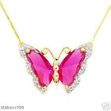 Necklace 10K GOLD Diamonds & Topazes *Compare: $1009.00