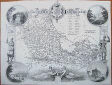 BERKSHIRE,  Thomas Moule Antique County Map c1850