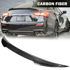 Fit For Maserati Ghibli Sedan 2014-21 Real Carbon Fiber Rear Trunk Spoiler Wing